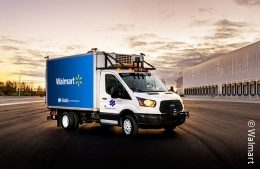 A walmart delivery truck; copyright: Walmart