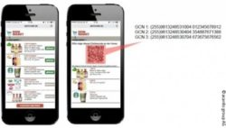 Image: mobile coupon with QR code; copyright: acardo group AG