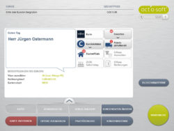Screenshot of a cutomer profile of engbers Männermoden; copyright: act'o-soft