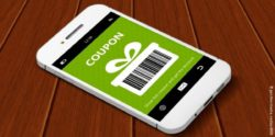 Image: coupon is shown on a smartphone display; copyright: panthermedia/ ayo888