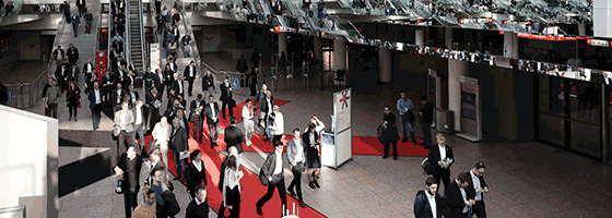 Entrance situation EuroCIS 2019 Copyright: Messe Düsseldorf