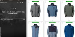 Image: screenshot webshop the north face; copyright: The North Face/Screenshot