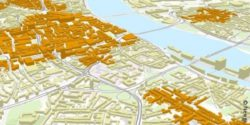 Image:3D building model from Cologne with consumption focusses; copyright: Nexiga