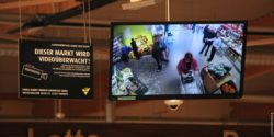 Picture: monitor in the entrance area; copyright: beta-web/Schmitz